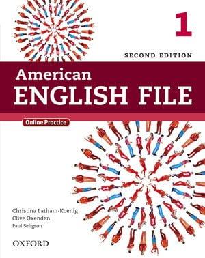 جلد کتاب زبان انگلیسی American English File book 1